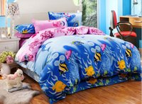 Hot selling karton kids pattern bedding sets luxury,Include Duvet Cover Bed sheet Pillowcase,King queen full size,Free shipping