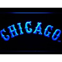 Luces B8 Baratos-Chicagos Baseball Sports USA Team Fan LED Letrero de neón Light Custom Neon Signs led signs Diseña tus propios signos de barras Drop Ship B8