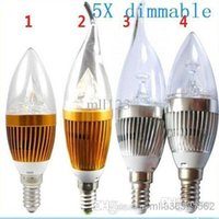 candle led silver prices - 5X 9W E12 E27 E14 Silver Golden Led Candle Bulbs Lights Dimmable Warm Cool White High Bright Led Spot Lights Dimmable 85-265V CE ROHS