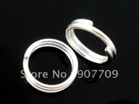 Wholesale Silver Plated Double Loops Open Jump Rings mm fashion jewelry Diy