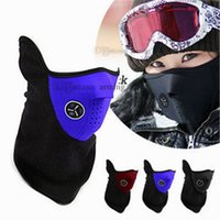Wholesale Hot Neoprene Neck Warm Half Face Mask Winter Veil Windproof For Sport Bike Bicycle Motorcycle Ski Snowboard Outdoor Mask Men Women Balaclava