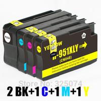 chips para cartuchos hp al por mayor-5 cartuchos de tinta (1set + 1BK) con chip compatible HP 950 XL 950XL 951 951XL para impresora officejet Pro 8100 ePrinter - N811a / N811d