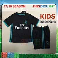 57ad6a02a66 Soccer Short Polyester 2018 Kids Kit Real Madrid Football Jersey 2017 18  Home White Away black