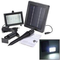 Wholesale projects light - Ultra Bright 30 LED Solar Light Detection Garden Floodlight Outdoor Projecting Landscape Lawn Lamp Solar Powered Wall