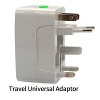 adaptador android para iphone dock al por mayor-La mejor calidad Universal International Adapter Travel Cargador de pared de corriente alterna UE EE. UU. UU. Reino Unido Todo en un convertidor Enchufe con paquete al por menor