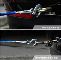 Wholesale Heavy Duty Truck Tow Rope - Wholesale-Tow Rope Traction Rope Heavy Duty Steel Hooks Emergency Tow Rope For Car Van Truck Camping