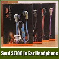 Wholesale Sms Audio New - New Cheap Factory Price!!! SL700 In-Ear Music Headphone SMS Audio Headset With Mic & Retail Box for Cell Phone Earphone Universal Earbuds