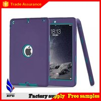 Wholesale Ipad Cases Waterproof - 3 in 1 Military Extreme Heavy Duty waterproof shockproof defender case Cover for ipad air ipad 234 ipad mini