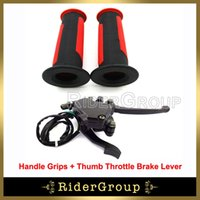Wholesale Handle Levers - Wholesale- Thumb Throttle Brake Lever Handle Grips For 50cc 70 90 110cc 125cc 150cc 200cc 250cc ATV Quad Kazuma Roketa Taotao Sunl Chinese