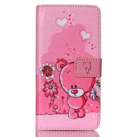 monedero billetero búho al por mayor-Lovely Pink Cute Cartoon Animal Owl Elephant Pug flor cubierta de la carpeta para LG Nexus 5X con titular de la tarjeta y la función de TV caja del teléfono