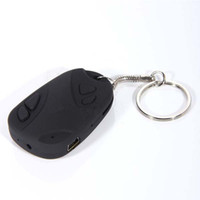 Wholesale Car Key Recorder - 1pcs Mini Camcorders spy car keys Car Keychain Spy Camera HD video Hidden camera Video Recorder Camcorder for TF SD card