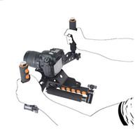 kamera montaj standı toptan satış-Freeshipping DSLR kitleri 5DII kuleleri video 5D2 kamera slr dslr rig omuz dağı film seti set kafes kolu sabitleyici steadicam steadycam