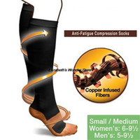 Wholesale magic socks - Wholesale-Comfortable Relief Soft Miracle Copper Anti-Fatigue Compression Socks Tired Achy Unisex Women Men Anti Fatigue Magic socks