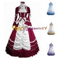 Wholesale Victorian Dresses For Christmas - Wholesale-2015 Fancy Party Gothic Lolita Dress Halloween Costumes for Women Adult Princess Victorian Southern Bell Dress Girls Dress V092