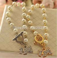 Wholesale Special Order Bracelets - Wholesale-(mini order 5$) 1pcs Korean wholesale special women's classic jewelry shiny dog pearl Bracelet cheap bracelets OB0057 121