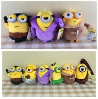 36pcs 6sets Film Minions Plüschtiere Stoffpuppen Super Soft Toys High Quality Dolls 8