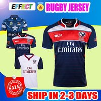Wholesale Home Temperature - Top quality 2017 Rugby Union USA rugby jersey blue home high-temperature heat transfer 17 18 jersey Rugby Shirts Football Union