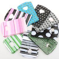 ingrosso punti di rosa-200pcs / lot 9 stili di moda 9x15cm rosa nero verde strisce puntini sacchetti di plastica gioielli sacchetto del regalo sacchetti di gioielli