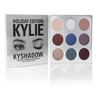 Hot Holiday Edition Kylie Cosmetic Collection Limited Kyshadow Palette opaco rossetto trucco crema ombra regalo di Natale da sunning