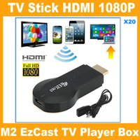 iPush TV wi-Fi HDMI Dongle EzCast M2 W2 Miracast DLNA Airplay 1080P Ricevitore Multi-Condivisione dello schermo Per Android IOS Windows Dispositivi Smart V762