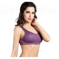 Wholesale Silk Brassiere - Wholesale-100% Pure Mulberry Silk Camisoles Sport Wireless Aerobic Vest Charmeuse Thin Brassiere