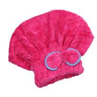 Wholesale Microfiber Hair Towel Head Wrap - Wholesale- 4 Colors Microfiber Solid Hair Turban Womens Girls Lady's Cap Quick-drying Hair Hat Bathing Tool Drying Towel Head Wrap Hat 1pcs