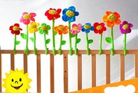 Wholesale Roses Crib Bedding - Wholesale- Baby toy crib circle bed round stroller Mini cute hanging toy soft plush DIY cartoon sunflower infant toy kid bed decoration