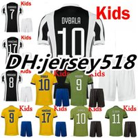 Wholesale Quality Boys - best quality 17 18 Italy Club kids Soccer jersey kits 2017 2018 MARCHISIO ZAZA DYBALA HIGUAIN DANI ALVES MANDZUKIC Children Football shirt