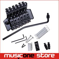 Wholesale Tremolo Bridge Double Locking - A Set Black Floyd Rose Electric Guitar Tremolo Bridge Double Locking Systyem Free shipping MU0471
