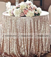 Wholesale Table Cloths White Linen - Charming Sequined Table Cloth Custom Made Round Champagne Wholesale Sparkly Table Sequin Linens Cheap Wedding Accessories