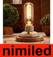 ingrosso luce ceramica d'epoca-nimi589 Vintage Retro Lampade in ceramica Loft Piccola personalità creativa Lampada da comodino American Village Cafe Light Desk Lighting