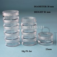 Wholesale Crystal Canisters Wholesale - 20pcs 5*10g PS Cream Jar Plastic Jar Cosmetic Container Empty Makeup Canister Sample Facial Mask Sub-bottling Free Shipping