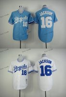 Wholesale Kansas Rugby - kansas city royals #16 bo jackson 2015 Baseball Jersey Cheap Rugby Jerseys Authentic Stitched Free Shipping Size 48-56
