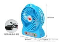 Wholesale F95B Portable Mini USB Fan Rechargeable Battery Operated LED Lamp Hands Fan for Indoor Outdoor Kids Table Battery Powered Fan