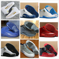Drop Shipping Super Perfect Quality Retro 12 Gioco di influenza French Blue The Master With Box Uomini Scarpe da basket Sport Spedire in 2 giorni