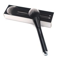 Wholesale feathers hair design - The Bronze Classic Black Long Handle Extra Large Design Wide Head Feather Soft Synthetic Bristles No .12 Bronzer Makeup Brushes