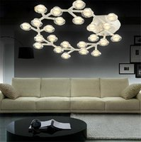 blossom ceiling light - Modern art design Plum blossom led ceiling lamp ring diamond living room circle light home store lustres lustre industiral lamps