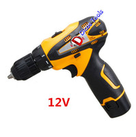 Wholesale 12v Cordless Electric Drill - household 12v electric screwdriver multi-function cordless drill one battery tools
