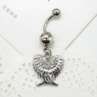 2015 Fashion Heart Wings Navel Belly Button Rings Belly Rings Body Jewelry Piercing Body J60 * SS0221