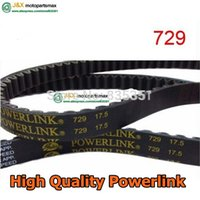 Wholesale Engines For Kart - Wholesale-GATES Powerlink 729 17.5 30 QMB139 Engine Drive Belt For Chinese Scooter Motorcycle ATV GO KART MOPED Parts