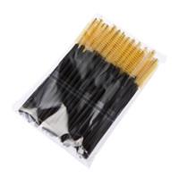 Wholesale Horn Pack - Big promotions ! One-Off Disposable Eyelash Eyelashes Brush Brushes Mascara Applicator Wand Brush Lash Brush 4 Colors 50pcs pack