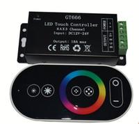 Wholesale Newest Led Strip - 12-24V 18A RF RGB controller led touch remote controller for RGB led strip 5050 3528 GT666 Newest Free shipping