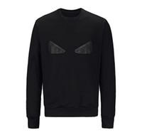 Wholesale Cool Sweaters - New Fashion Brand Men Women Sweatshirts rivet little monster funny eyes print high quality cotton men cool hoody hip hop sweaters M-XXXL