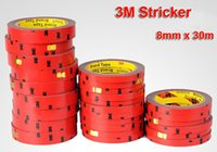 Wholesale Double Sided Adhesive Tape Sticker - 8mm x 30m 3M Auto Double Foam Faced Super Adhesive Tape Vehicle Double Sides Sticker Double Tissue Tape For Car NEW Free Shippin