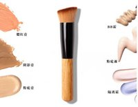 B31 1pcs/set Nylon 100pcs lot Free Shipping High Quality Powder Brush Wooden Handle Multi-Function Blush Brush Mask Brush Foundation Makeup Tool