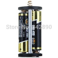 Wholesale Holder Timer - Aluminium Alloy 3 AA Flashlight Battery Holder Convert AA to D Size flashlight underwater battery operated candles with timer