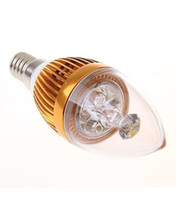ücretsiz gönderim e14 mum ampul toptan satış-10 adet / grup Yeni Varış E14 9 W 3x3 W LED Mum ışığı Kısılabilir E14 Led Ampuller Lamba AC85V ~ 265 V Ücretsiz Kargo CEROHS Geçti