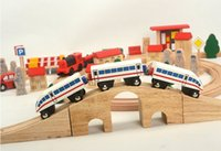 Wholesale Thomas Toy Train Sets - Thomas Wood Train Model, with Track and Motor, DIY Intelligence-Improved, High Quantity Simulatio,Kid' Gifts, Collecting, Home Decoration