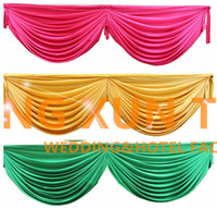 Venda por atacado 3M Long Ice Silk Swag Drape Only Can Fir Falência de mesa \ Backdrop Curtain And Other Wedding Decoration