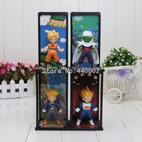 Wholesale Action Buddy - 4pcs set Dragon Ball Z Tamashii Buddies Super Saiyan Trunks Vegeta Son Goku Piccolo PVC Action Figures Toys model